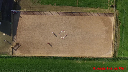 Arial view of Horses Inside Out HQ Wavendon Grange