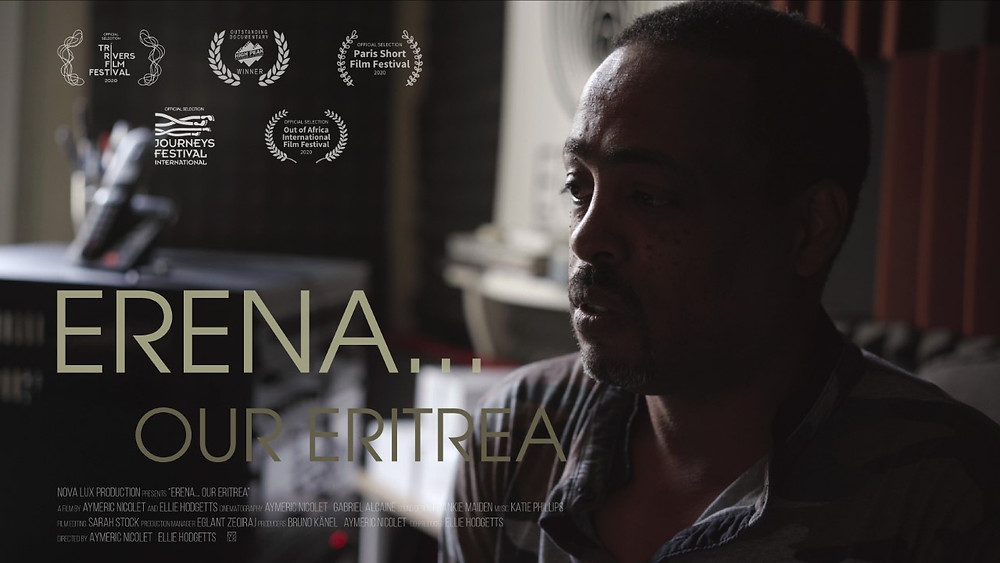 Poster for Erena...Our Eritrea showing reporter.