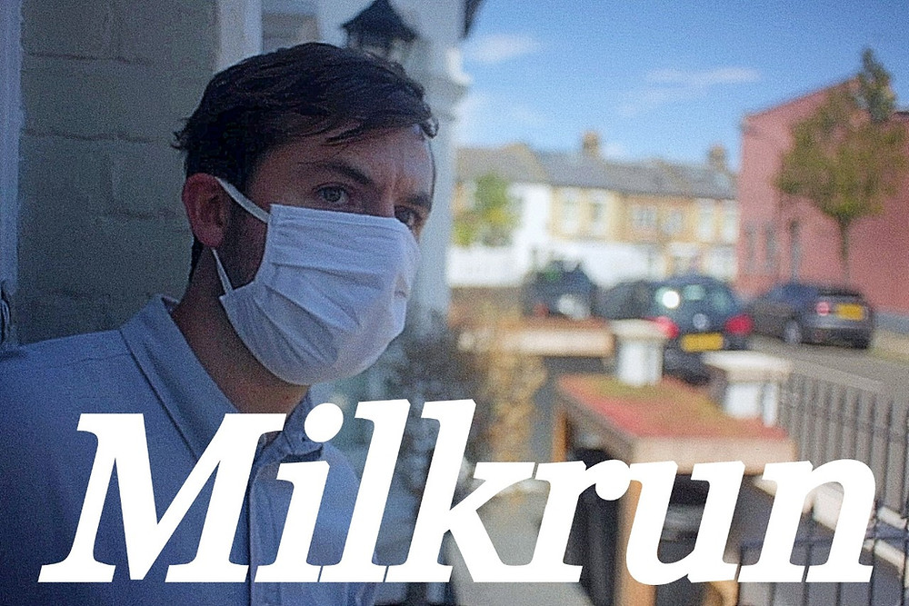 Poster for Milkrun showing protagonist.
