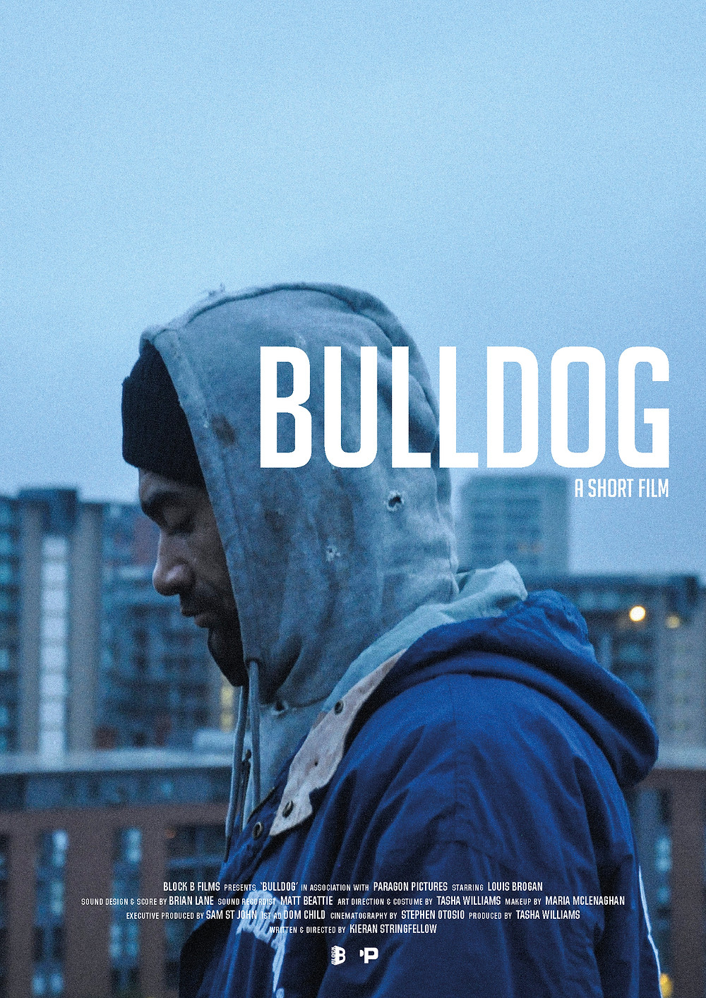 Poster for Bulldog showing protagonist.