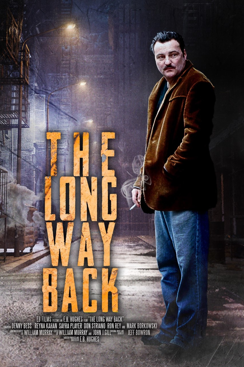 Poster for The Long Way Back showing protagonist.