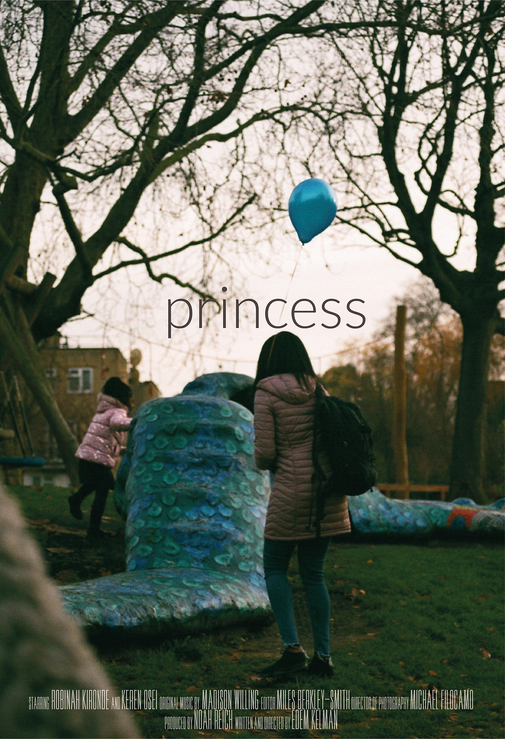 Poster for Princess showing protagonists in playground.