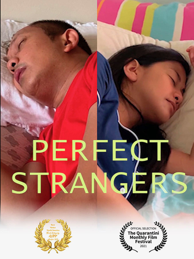 Poster for Perfect Strangers showing protagonists.