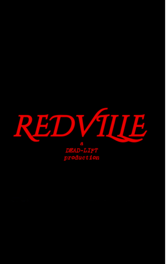 Poster for Redville showing film title.
