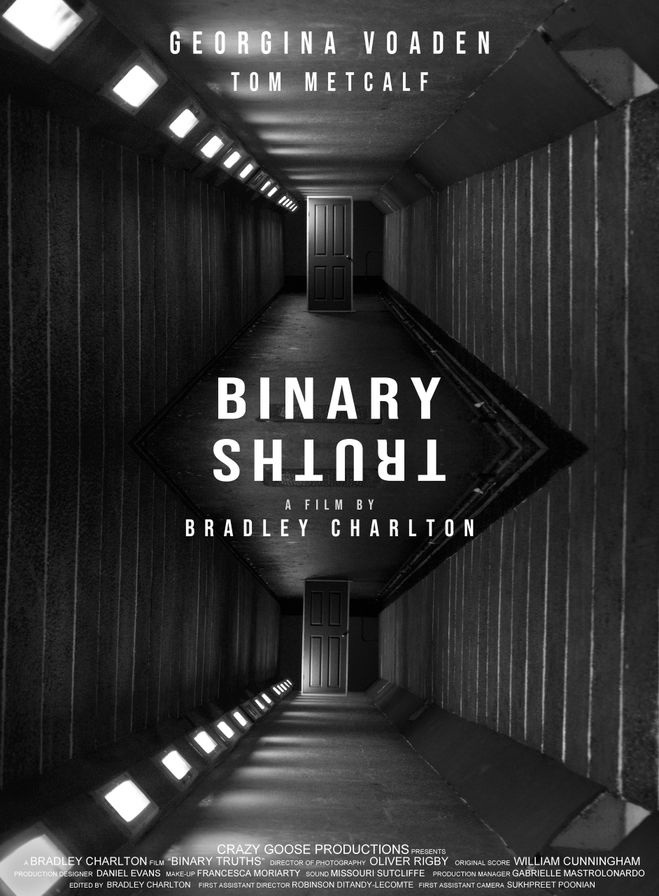 Poster for Binary Truths showing underpass and door.