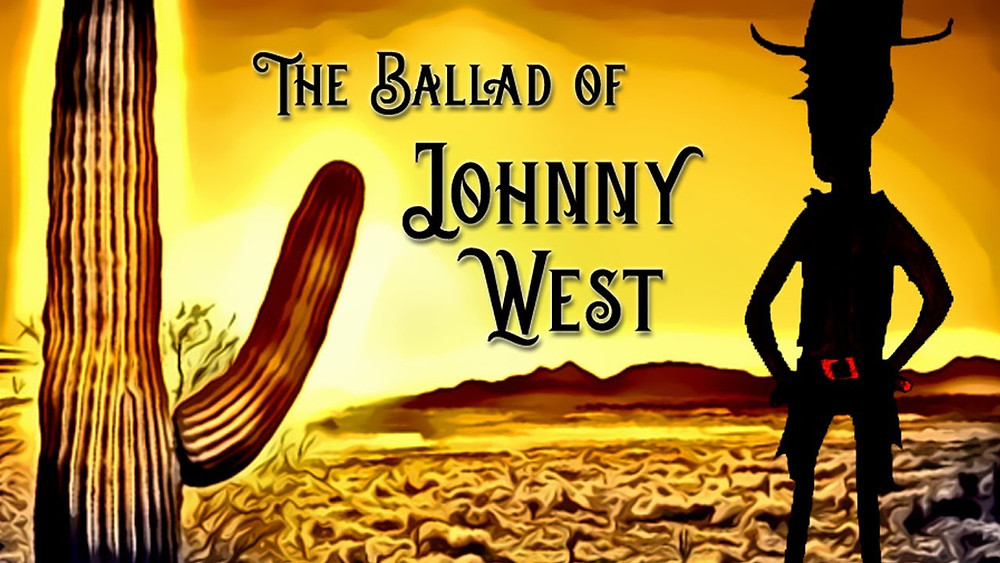 Poster for April Moon: The Ballad of Johnny West showing animation.