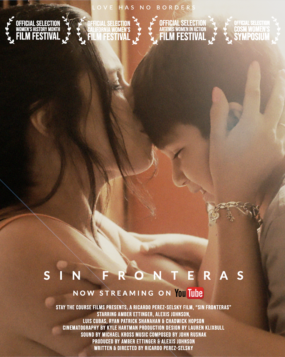 Poster for Sin Fronteras showing protagonists.