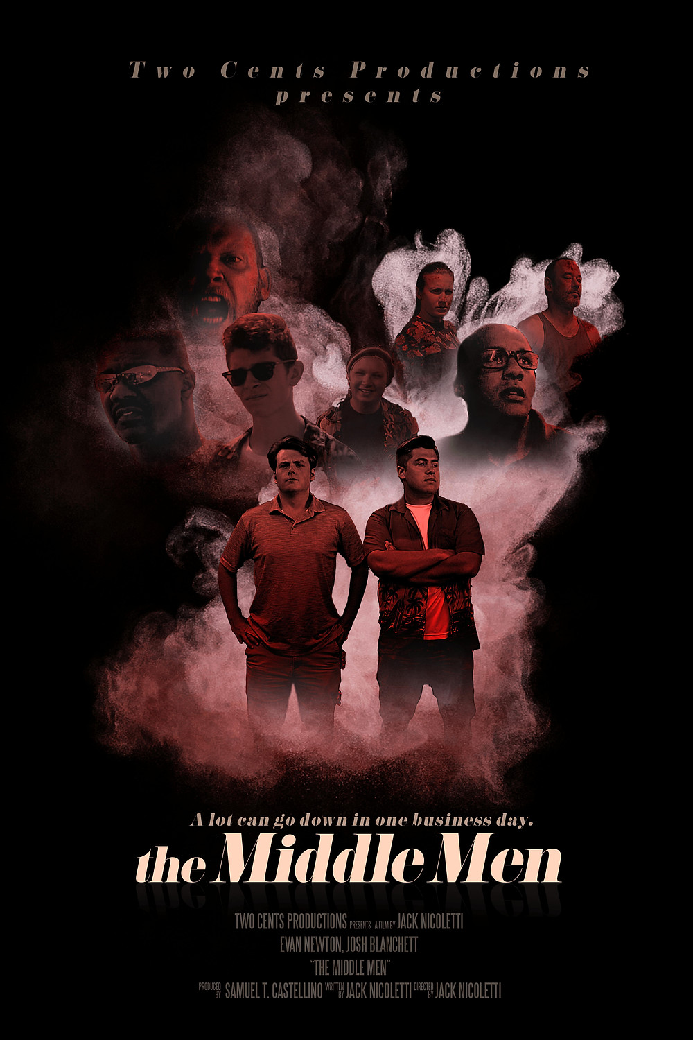 Poster for The Middle Men showing protagonists.