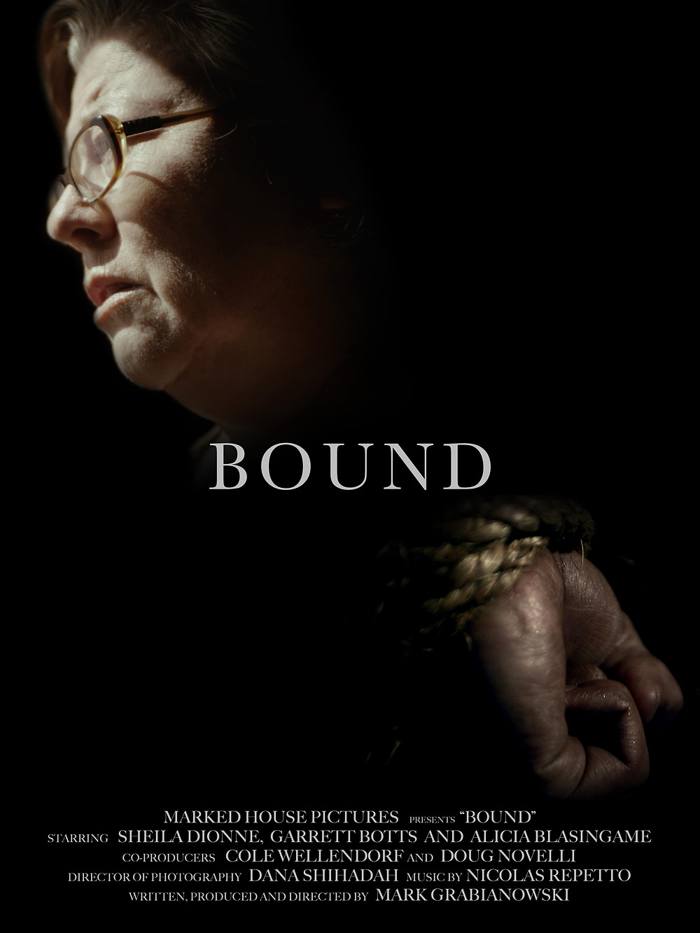 Poster for Bound showing protagonist.