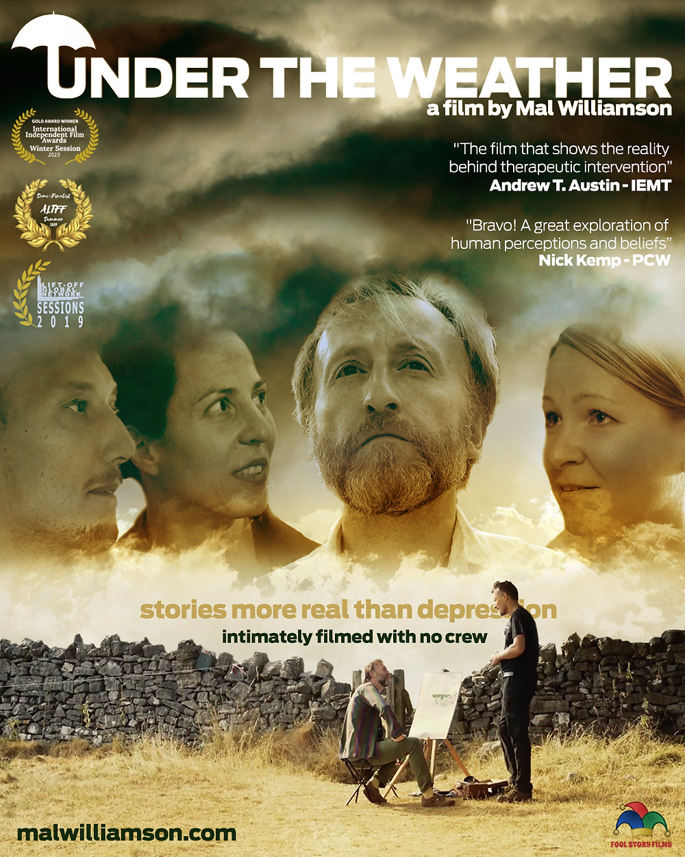 Poster for Under The Weather showing protagonists.