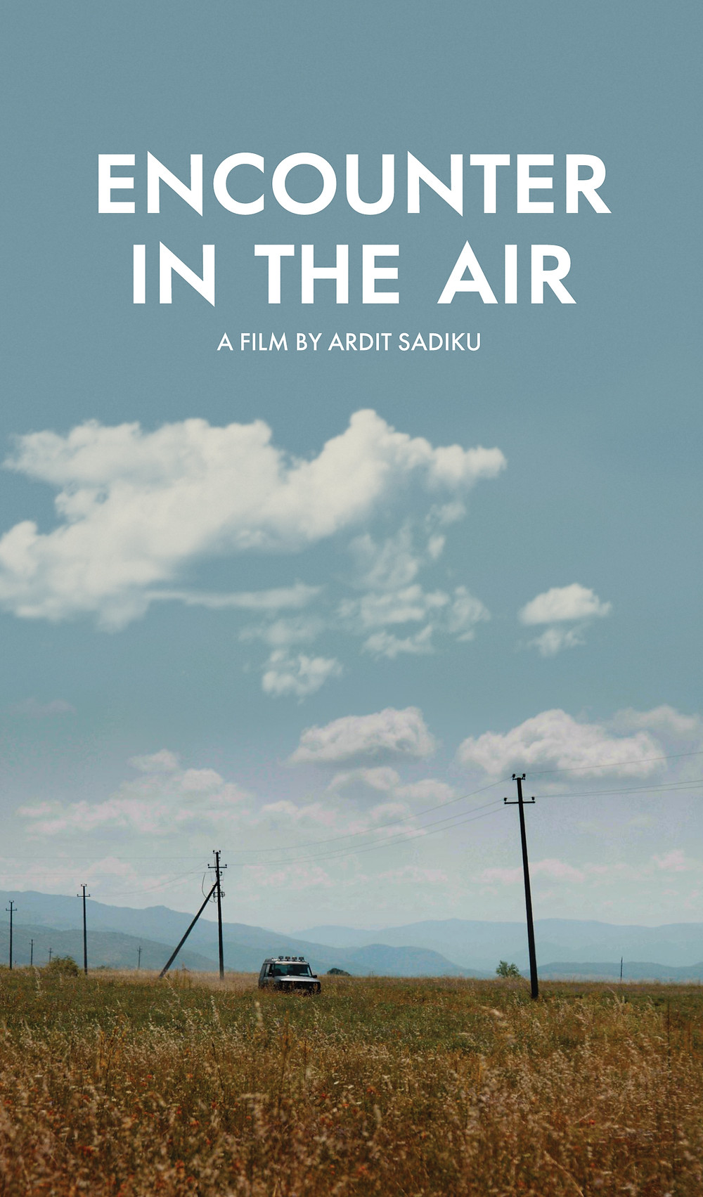 Poster for Encounter in the Air showing field and sky.