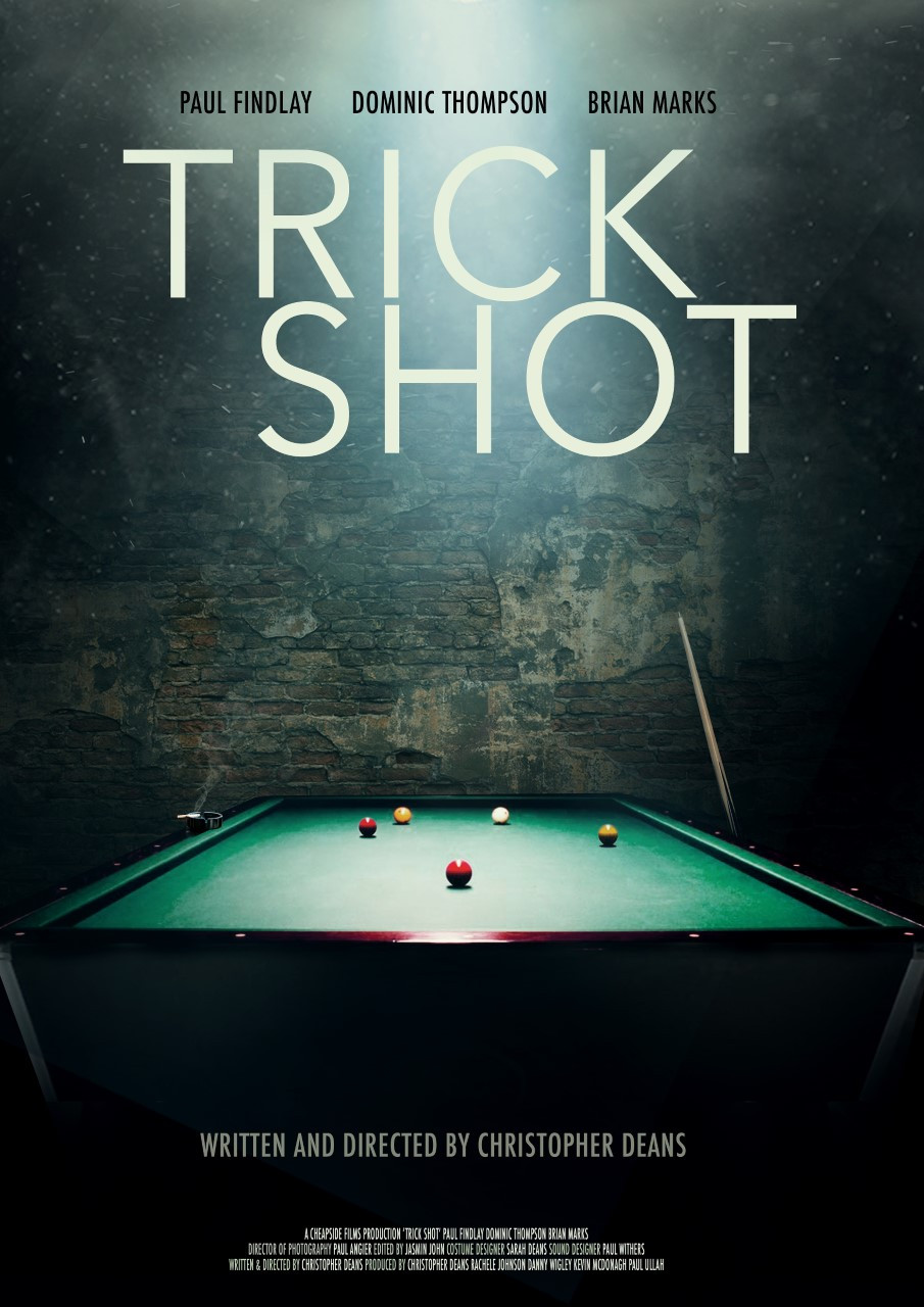 Poster for Trick Shot showing billiard table.