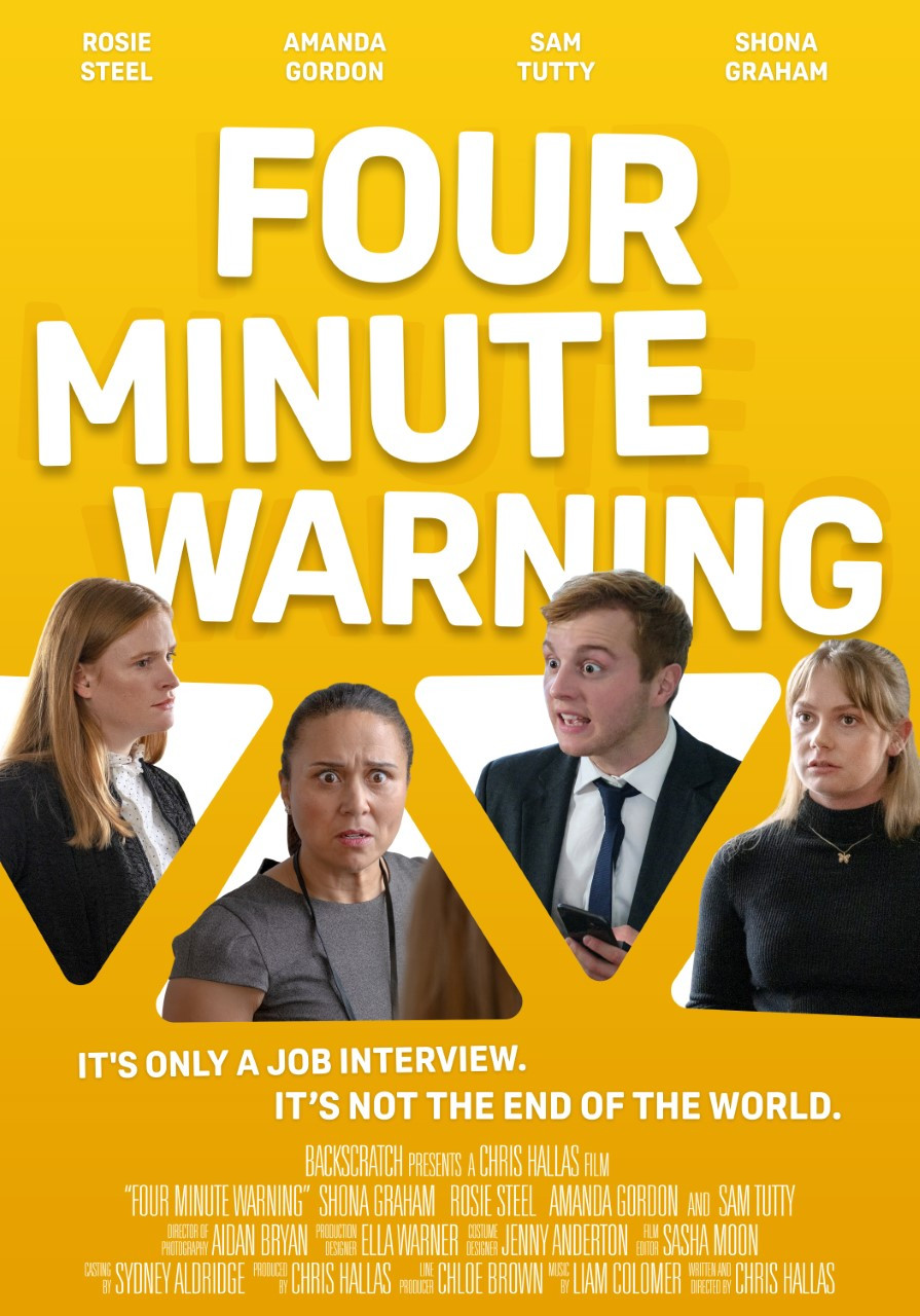 Poster for Four Minute Warning showing protagonists.