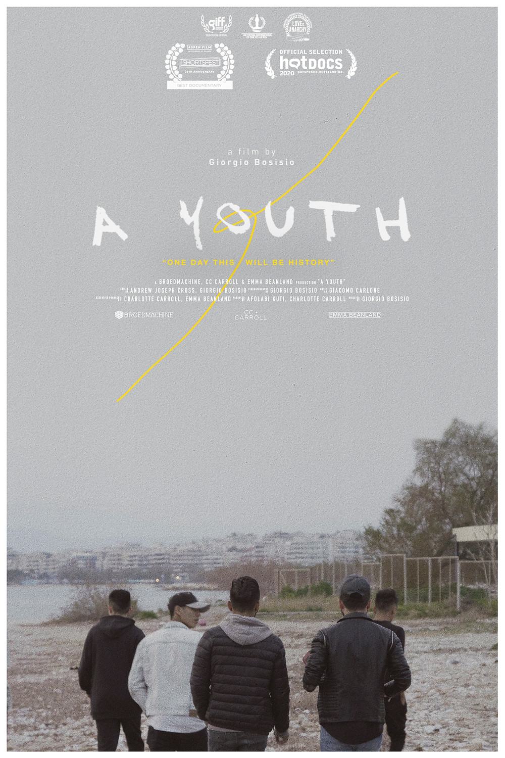 Poster for A Youth showing people on a beach.