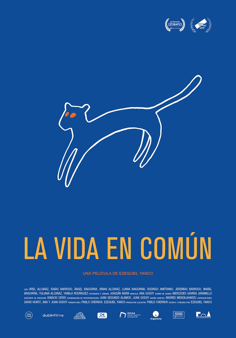 Poster for La Vida En Comun showing animation.