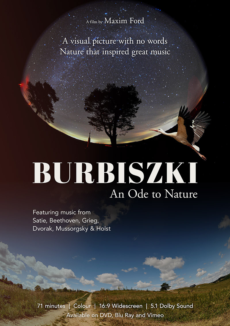 Poster for Burbiszki showing field, clouds and sky.