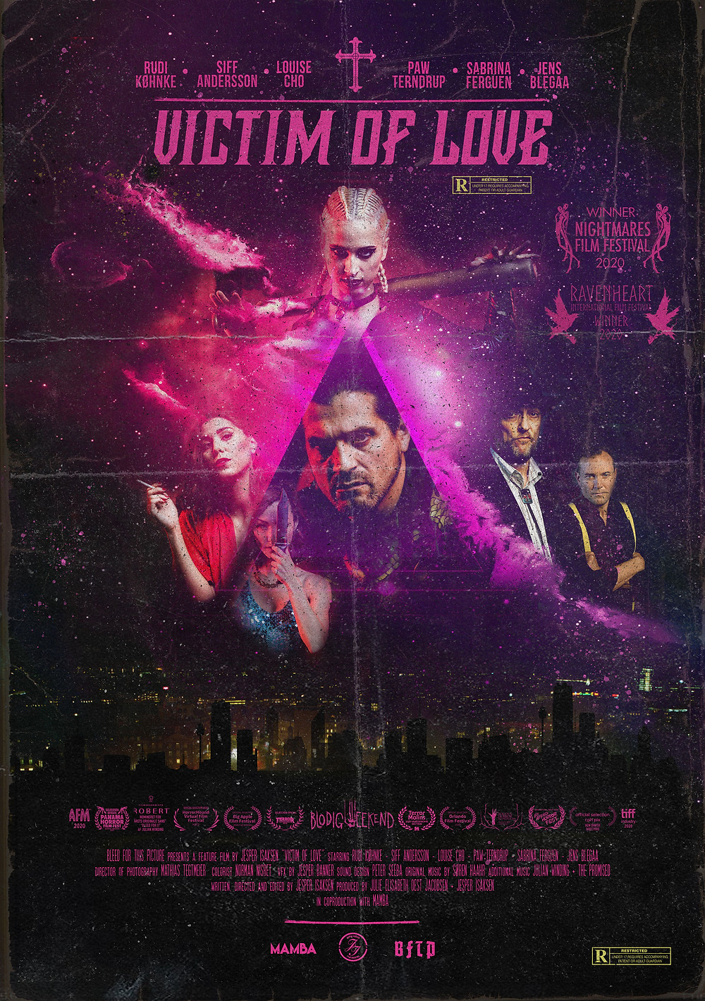Poster for Victim of Love showing protagonists.