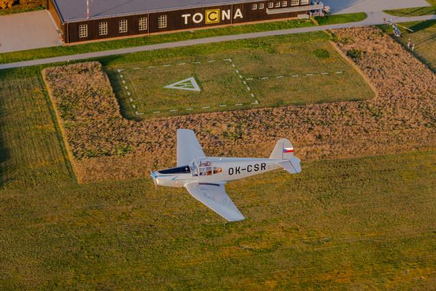 OK-CSR nad Letištěm Točná