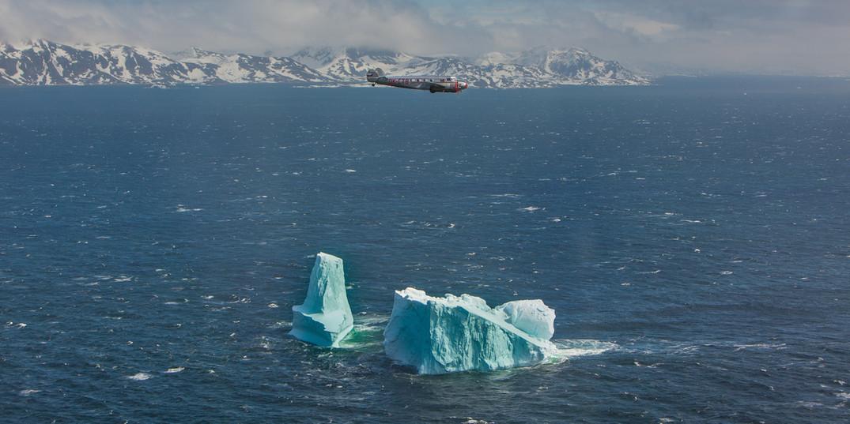 Electra nad ledovcem, Grónsko