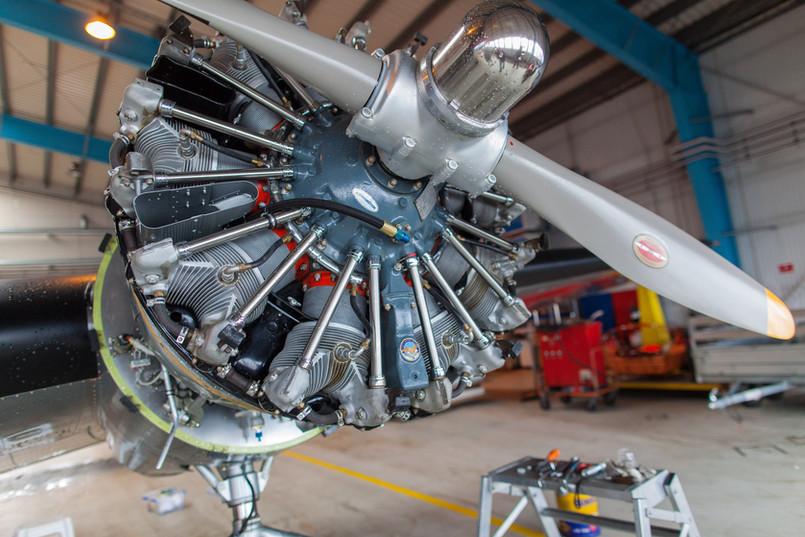 Motor Electry při renovaci, Pratt and Whitney, Wasp Junior