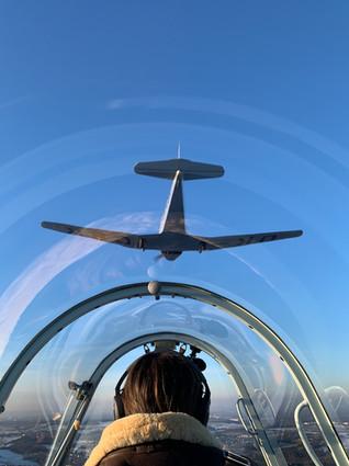 Pohled na OK-CSR ze Zlínu C-305