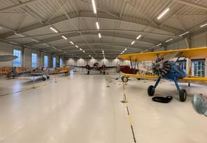 Pohled na vnitřní expozici, den otevřených dveří hangáru