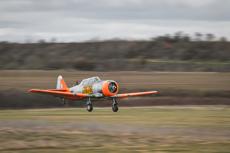 AT-6C Harvard vzlet