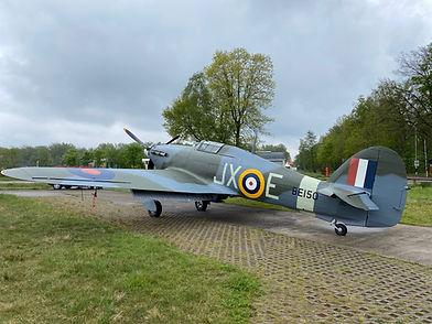 Hawker Hurricane, který přiletí do Prahy