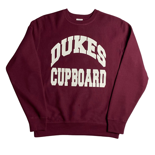 Dukes Cupboard College Sweatshirt (Burgundy)