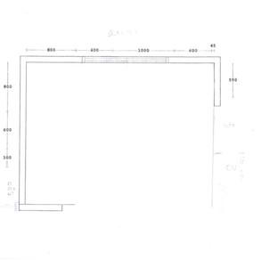 Plattegrond bestaande keuken