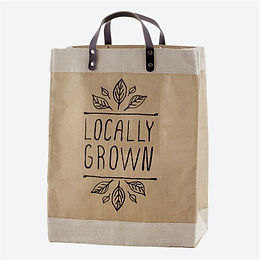 "Market Tote - ""Locally Grown"""