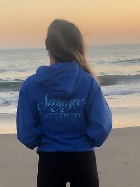 Seascape Beach Resort Hoodie - Heather Royal