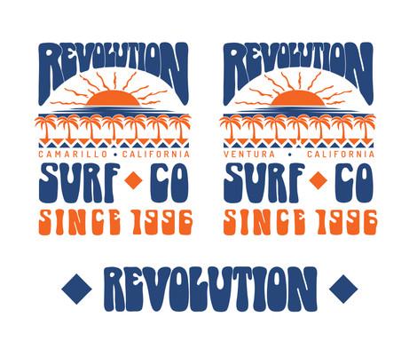 Revolution Surf Co. Bubble Font