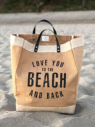"Market Tote - ""Love You"""