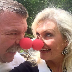 Robin and Danny with Red noses.jpg