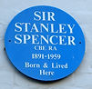 Sir Stanley Spencer Blue Plaque in Cookham High Street