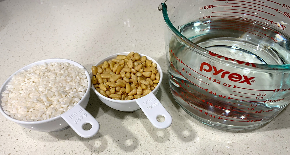 Rice, Pine nut, Filtered-Water