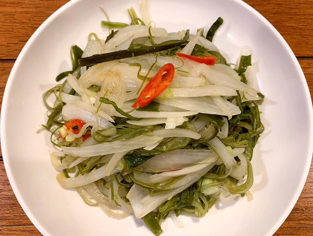 Sauté Seaweed Stems