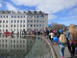 Skrúðganga á opnunarhátíð 2014