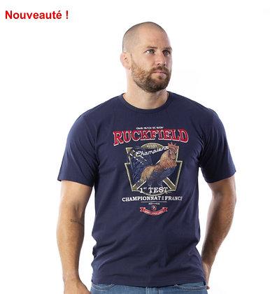RUCKFIELD : T-shirt à manches courtes bleu