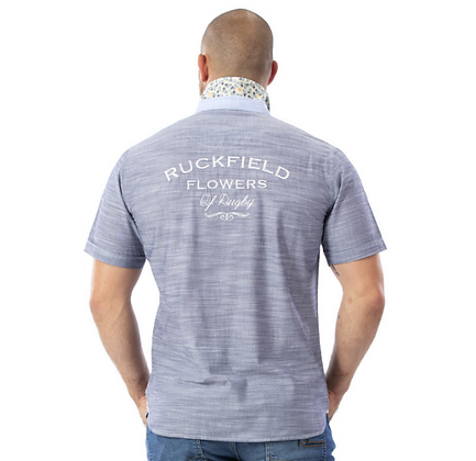 RUCKFIELD : Chemise grise flowers