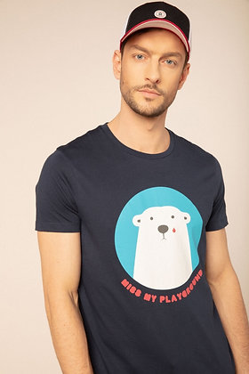 SERGE BLANCO : Tee-shirt manches courtes ours polaire