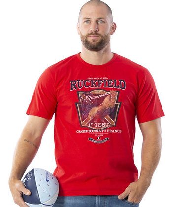 RUCKFIELD : T-shirt à manches courtes rouge