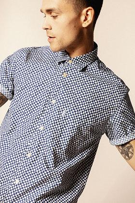 SERGE BLANCO : Chemise manches courtes à damier