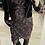 Thumbnail: MORGAN: Robe manches longues imprimée noir femme