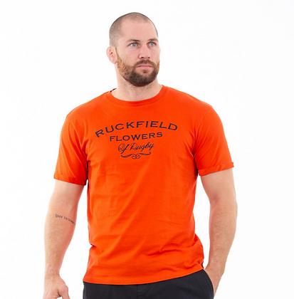 T-shirt orange rugby flowers Orange
