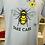 Thumbnail: SERGE BLANCO : Tee-shirt en coton imprimé abeille