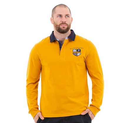 Polo moutarde homme rugby Moutarde