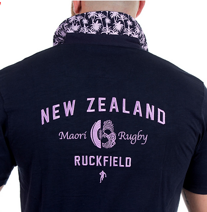 RUCKFIELD:Polo bleu maori rugby