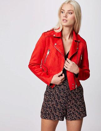 MORGAN : Veste droite zippée orange femme